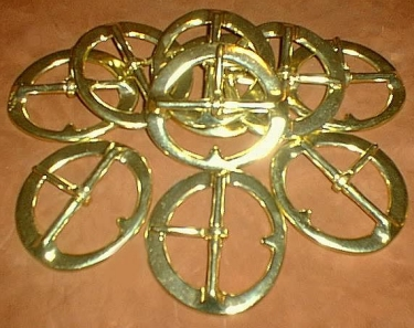 "Belt Buckle, 3"" Brass"