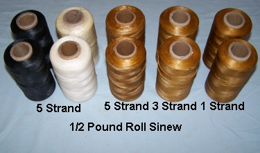 Sinew, Artificial, 1/2 lb roll, 5 strand 70#